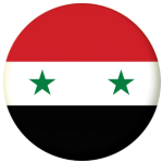 Syria Country Flag 58mm Button Badge